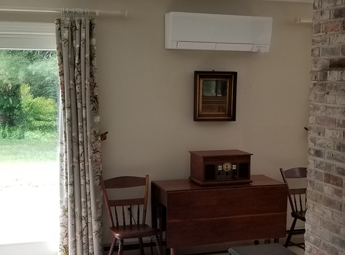 Seacoast NH Dual Zone Mitsubishi heat pump and cooling 2